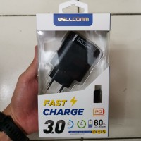 Wellcomm Travel Charger PD 3.0A Fast Charger Original