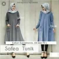 Pakaian Baju Atasan Wanita Long Tunik SAFEA Terbaru Termurah
