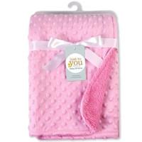 Selimut Double Fleece Bintik Polos Baby Minky Blanket Selimut Bayi