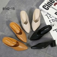 [MONNA VANIA MULES HEELS 42-15] Sepatu Fashion Wanita Impor Murah