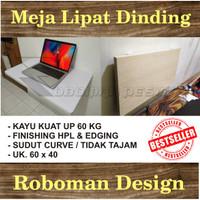 Meja Lipat Dinding / Rak / Meja komputer / Kerja / Murah HPL 60x40cm