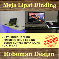 Meja Lipat Dinding / Rak / Meja komputer / Kerja / Murah HPL 80x40cm