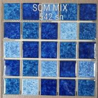 Keramik Kolam renang dengan mosaic Mass Tipe Sqm mix 542 SN