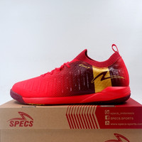 Sepatu Futsal Specs Swervo Thunderbolt 19 IN Emperor Red 400829 Ori