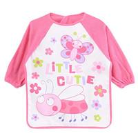 Long Sleeve Bib Pink / Slabber Baju Makan/ Baju Lukis Luvable Friends