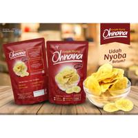 keripik kripik pisang lantak ohnana coklat susu greentea asin original