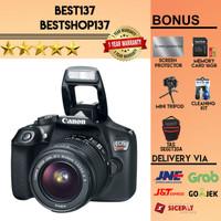 Canon EOS Rebel T6 / EOS 1300D Kit 18-55 IS II - Hitam
