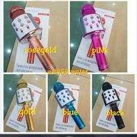 Mic Karaoke WS-858 Microphone Wireless Bluetooth WS 858 Grosir Mic -