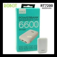 Powerbank Robot RT7200 6600mAh 2 USB mini LED Vivan Robot Original