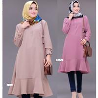 Atasan Blouse Tunik Wanita Baju Muslim Blus Muslim TINA TUNIKA