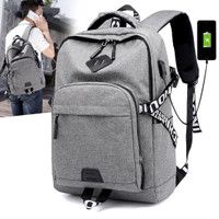 Techdoo Tas Ransel Pria Kanvas Usb Charger Backpack TR204