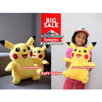 Boneka Pikachu Pokemon M:35cm Lucu Berkualitas
