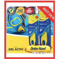 SUPER ABSORB SILICONE GEL INSOLE SHOES PAD - SOL WALK ACTIVE ALL DAY