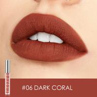 FA76 FOCALLURE Velvet Matte Liquid Lipstick #06DARK CORAL