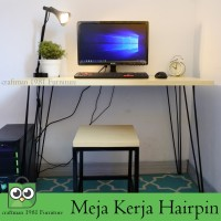 Meja Kerja 100x50 Kaki Putih Meja Komputer Meja Belajar Office Table