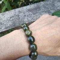 Gelang giok natural nephrite jade aceh 100% asli (3)