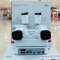 PAKET CCTV NVR KIT UNIVIEW 4CAMERA 1080P FULL HD LENGKAP HARDISK 1 TB