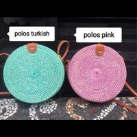 Tas rotan Bali Lombok diameter 20cm warna