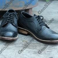 Sepatu pantofel/fantofel kulit pria model oxford hitam