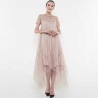 ATELIER MODE Cocktail Dress Handkerchief Bottom Hem Floryn Lace Dress