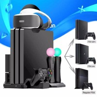 Game PS4 Pro Slim / PS VR Move Multifunctional Cooling Stand & Control