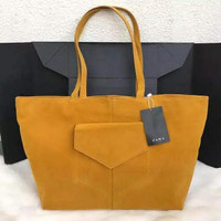 FASHION WOMEN BAG Zara Basic Tote Bag Suede Impor