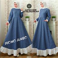 Gamis Jumbo Katun Volka/fashion wanita/big size/gamis jumbo