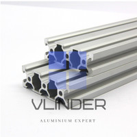 V Slot 2060 Aluminium CNC Track - Matte Silver