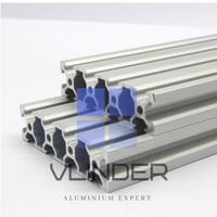 V Slot 2080 Aluminium CNC Track - Matte Silver