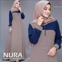 Pakaian Baju Busana Muslim Wanita Long Dress Maxi NURA Gamis Terbaru