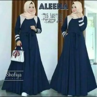 Pakaian Baju Busana Muslim Wanita Dress Maxi ALEENA Gamis Terbaru