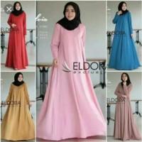 Pakaian Baju Busana Muslim Wanita Maxi Dress SELVIA Gamis Terbaru