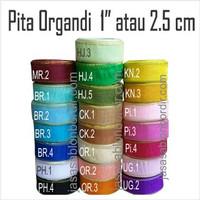 Pita Organdi list emas 1 inch atau 2.5cm