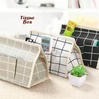 Tissue box KOTAK KOTAK ( tempat tisue dengan 6 sekat selipan)