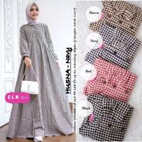 Baju Gamis Wanita Terbaru - Sabrina Dress Kotak Kotak Termurah GH
