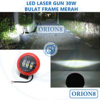 Lampu Sorot Tembak LED CREE 30W Laser Gun Daymaker Projector Bulat