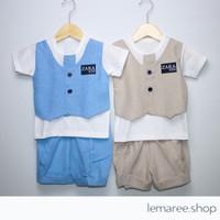 Baju Setelan bayi / anak laki-laki rompi ZARA dengan dasi