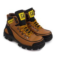 Sepatu Pria Boots Safety Ujung Besi Caterpillar Argon Mbc Tan