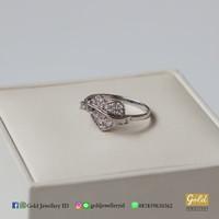 Cincin emas putih kadar 750 75% - PC10021900