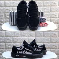 Sepatu Vans Old Skool x PATTA x BEAMS Mean Eyed Cat Black BNIB