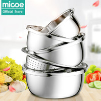 MICOE baskom / mangkuk dapur 1 set isi 5 dari stainless steel super