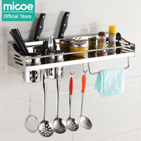 MICOE rak serbaguna Rak Dapur 304 Stainless Steel Rak