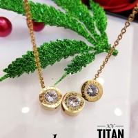 Titanium kalung lapis emas 24k 628a