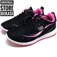 Sepatu Sekolah Running Anak Ando Gilda Black Pink kets Size 33-40 - 40