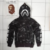HOODIE BAPE SHARK X NBHD HITAM GRADE 1:1 AUTHENTIC