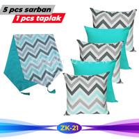 Paket Sarung Bantal Sofa + Taplak Meja Tamu Minimalis