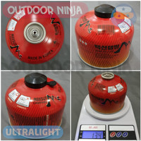 PAKET Tabung Gas Canister Pouch ringan ultralight camping msr odninja