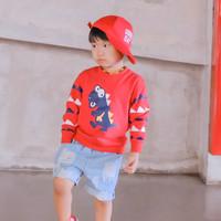 Welborn Kids Sweater Dino Merah/Abu Anak Laki