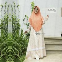 Nadra Dress Cream by Urfimutiyaro/Gamis Katun Jepang/Gamis Casual