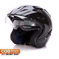 Helm Dewasa WTO Helmet Pro-Sight - Double Visor - Black